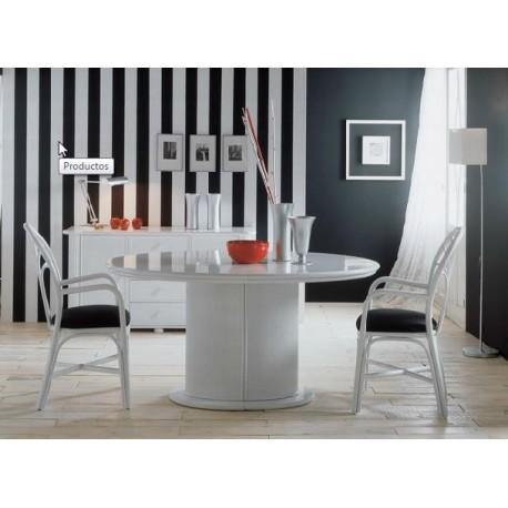 meubles de s jours table ovale pied central avec allonge meubles philippine. Black Bedroom Furniture Sets. Home Design Ideas