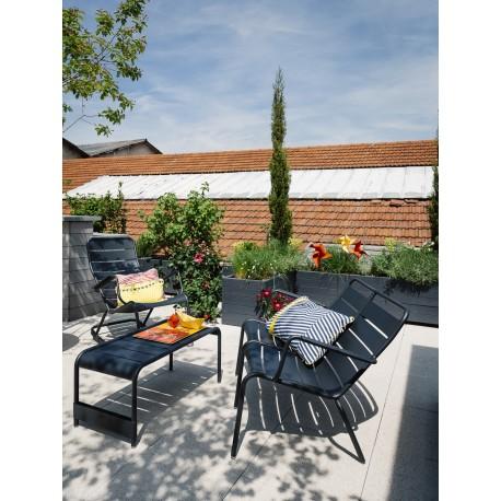 fauteuil bas et table basse luxembourg fermob meubles philippine. Black Bedroom Furniture Sets. Home Design Ideas